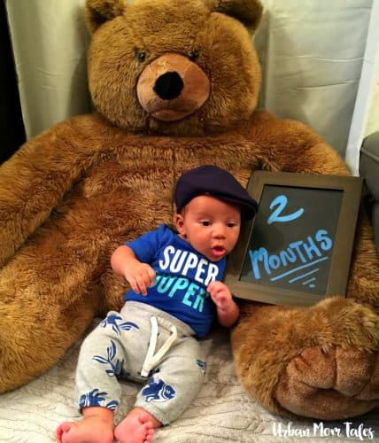 2 Month Baby Photo with Bear