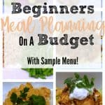 Beginners Meal Planning on a Budget: With Sample Menu!