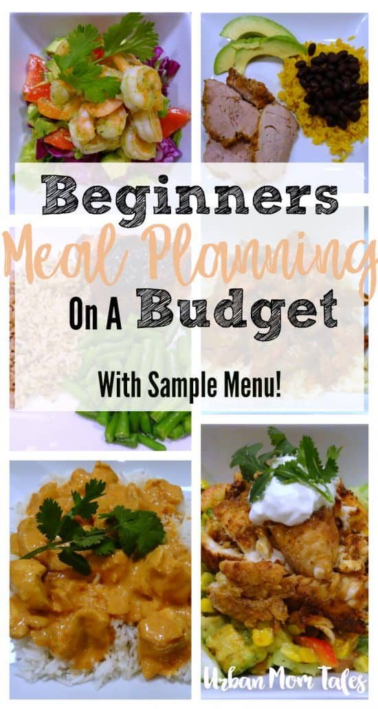 Beginners Meal Planning on a Budget, Sample Menu