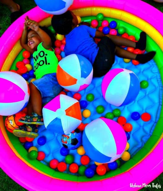 2 year old Ball themed birthday party, ball pit