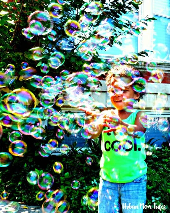 2 year old Ball themed birthday party, bubble machine