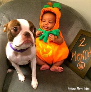 2 Month Baby Photo with Dog