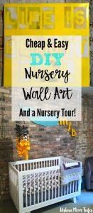 DIY Nursery wall art, gray and yellow nursery, nursery decor design, gender neutral