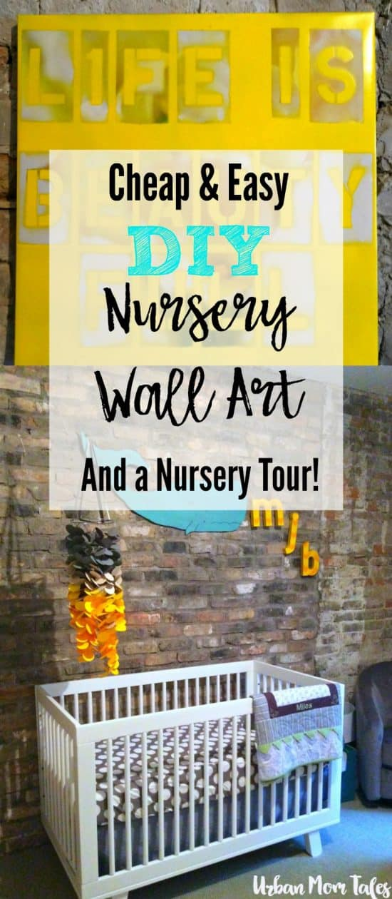 DIY Nursery wall art, gray and yellow nursery, nursery decor design, gender neutral