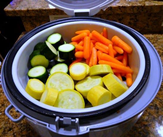 Steam Carrots Zucchini Yellow Squash Baby Food