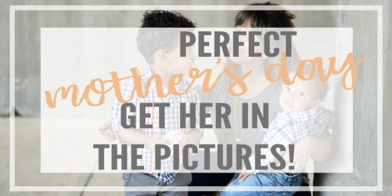 Moms are not in pictures enough! The perfect Mother's Day gift for the mom in your life is a way she can document the year with beautiful photos.