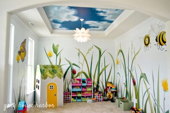 Playroom Mural Ideas The most amazing ways to create magical spaces for kids urban mom use these amazing ideas to nourish your kids imaginations inspiration for your playroom makeover sisterspd