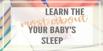 Keeping a baby sleep log or tracking your baby's sleep can help you see patterns and trends to improve their sleep schedule! Journaling your baby's sleep with notes can help you learn a lot over 1-2 weeks than can transform your baby's sleep for the better!