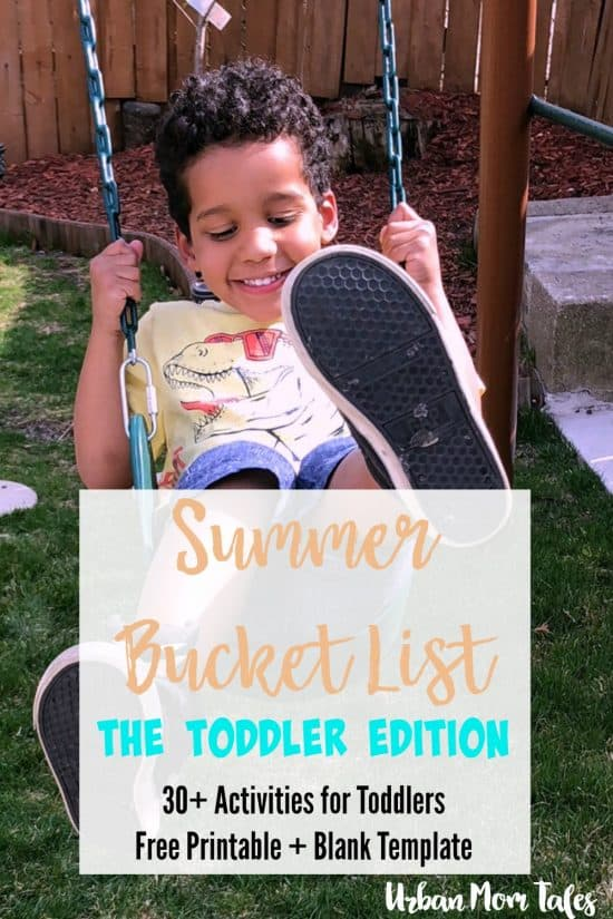 Having a summer bucket list and a plan of summer activities for toddlers is a perfect way to make lasting memories and get the most of your summer as a family!