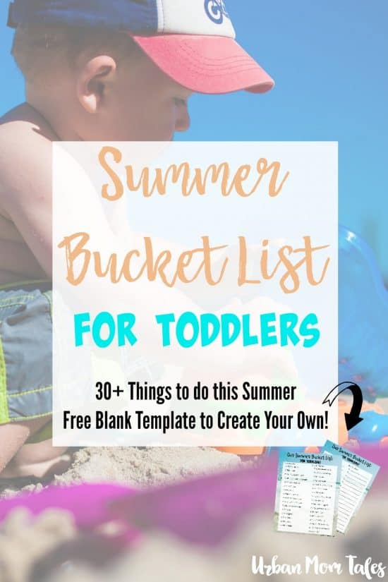 Having a summer bucket list for toddlers is a perfect way to make lasting memories and enjoy the most of your summer!