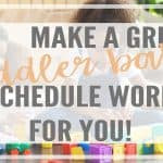 Make a Great Toddler Baby Schedule that Works for You!