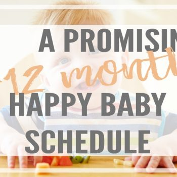 Simple 9-12 month baby schedule to learn the right amount of sleep, activity ideas and developmental milestones needed for the happiest baby routine.