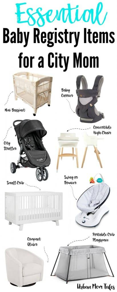 What are the baby items that every new city mom must have? This urban guide of the most essential baby registry helps you navigate the city with a baby.