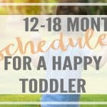 Daily 12-18 Month Schedule for a Happy Toddler