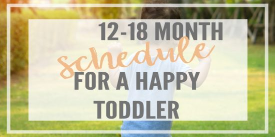 What do you do all day with your one year old? This 12-18 month schedule goes over activities, toys and even a free sample schedule you can download!