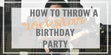 How to put together a rockstar birthday your music loving toddlers will love! Including a DIY stage and backdrop, decorations, activities food & game ideas.