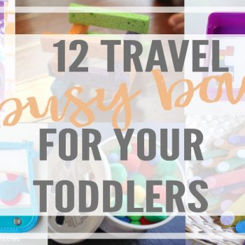 Travel busy bags for toddlers will make your next trip much better! They are fun, educational, & easy to make. Perfect toys for a flight, road trip or restaurant.