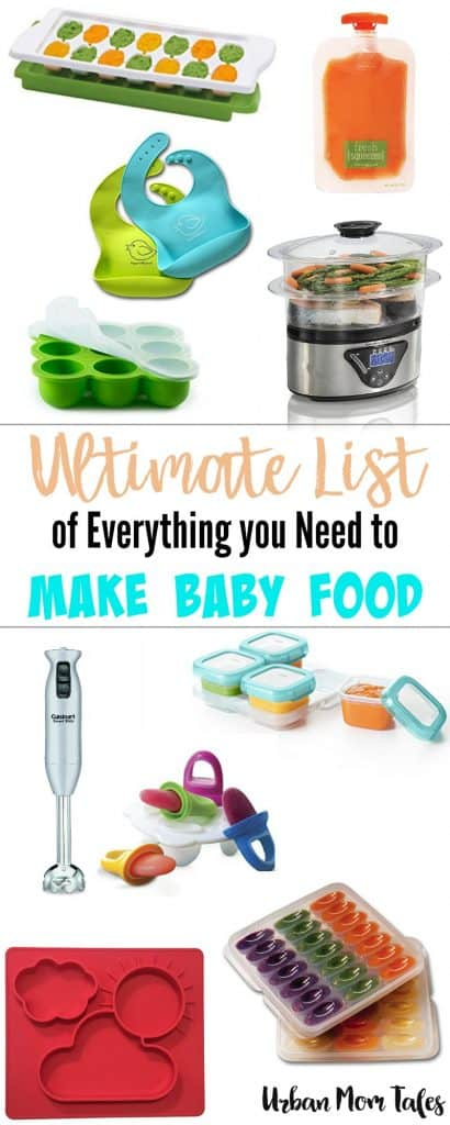Thinking about making baby food? This is the ultimate list of everything you need to make baby food- lots of options so you can find your perfect tools. things needed to make baby food, tools needed to make baby food, what do I need to make baby food