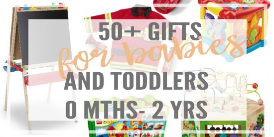 50+ gifts that are developmentally matched to encourage brain growth AND hours of fun! Perfect gifts for babies and toddlers, from 0 months to 2 years old. Gift guide for babies, gifts for toddlers, one year old birthday gifts, two year old birthday gifts, christmas gifts for babies and toddlers