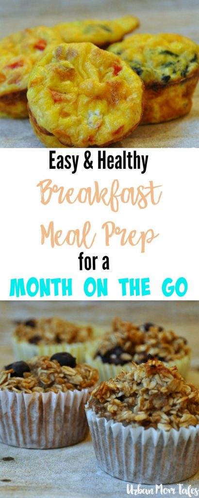 Breakfast meal prep for an easy and healthy month of morning. Make ahead breakfast 3 types of oatmeal muffins and 2 kinds of egg muffins in this meal plan. They are kid friendly and delicious! Stress free weekday mornings are in your future. Breakfast on the go or at home.