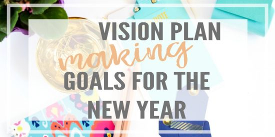 Creating a vision plan is perfect for making goals for the new year. You can set it as a screensaver so that you never forget what you are working toward!