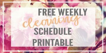 Get super organized with this pretty and easy to use cleaning schedule printable. It is a weekly cleaning schedule but also lists daily, biweekly and monthly tasks. Each weekday is assigned a room in your house to keep you focused and ease the overwhelm of maintaining a clean and beautiful home.