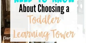 How to choose a toddler learning tower, kids kitchen helper or Montessori learning tower? 9 different options to research and choose from! Details optimal age range, benefits, as well as pros and cons of each. Everything you need to make the right decision for your family.