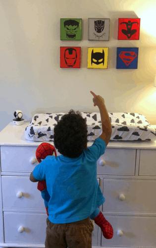 superhero bedroom wall art