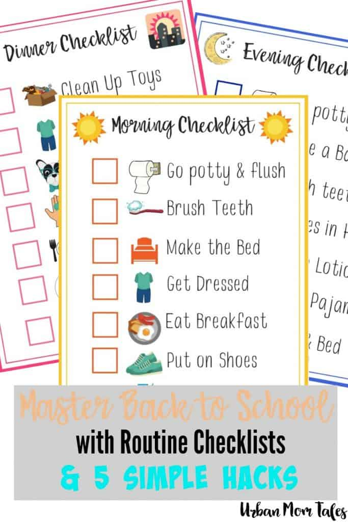 Master Back to School with Routine Checklists & 5 Simple Hacks