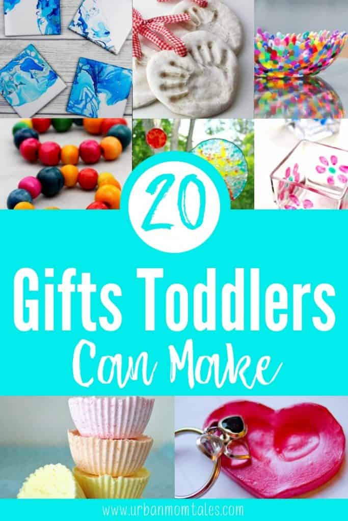There is something so special about homemade gifts! Get your toddlers involved in the season of giving with these 20 gifts toddlers can make.