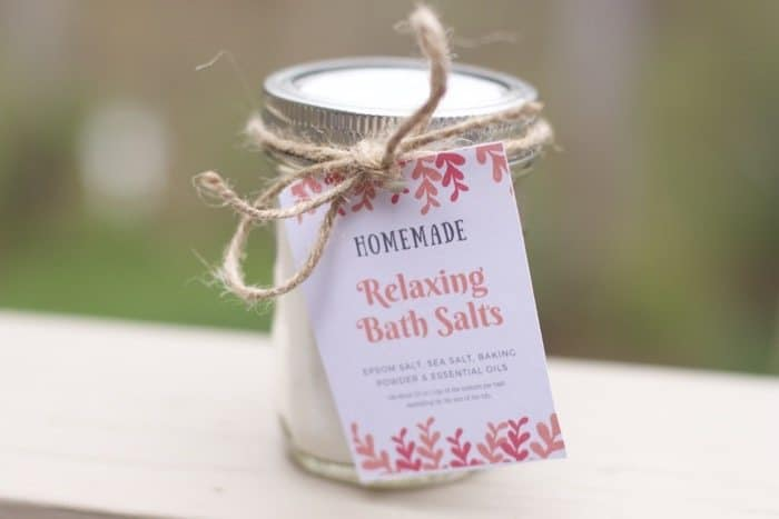 bath salts gift kids can make