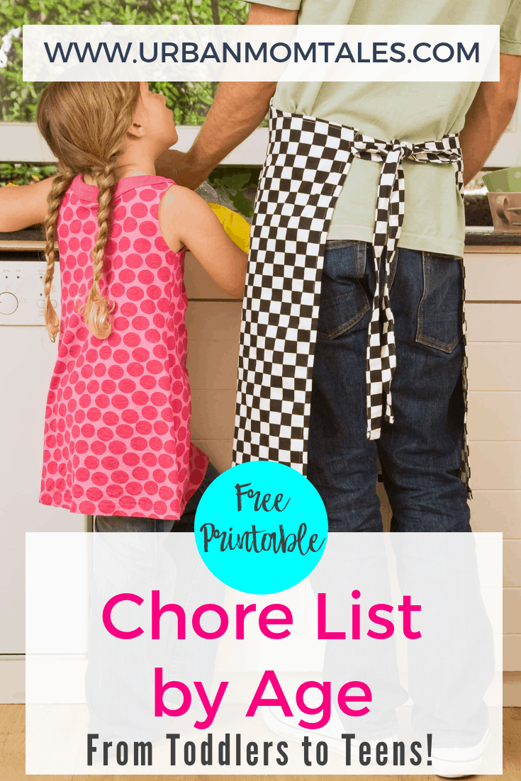 Free Printable Chore List by Age- From Toddlers to Teens!