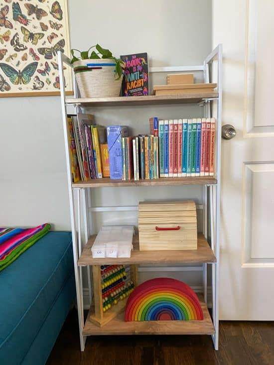 homeschool room bookcase