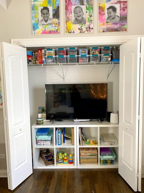 homeschool closet storage