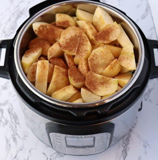 instant pot apples before cooking cinammon