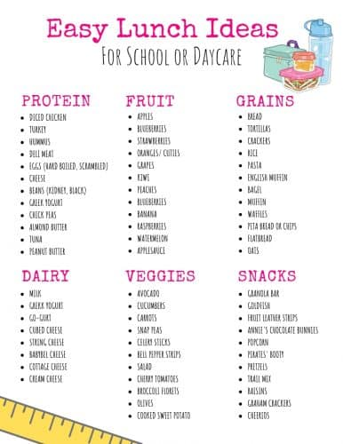 easy lunch ideas for school or daycare, toddler lunches, preschool lunch, bento box lunch, meal planning lunches, make ahead lunch