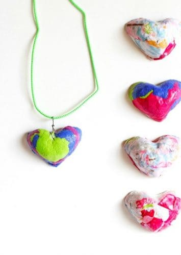 Gifts kids can make heart necklaces