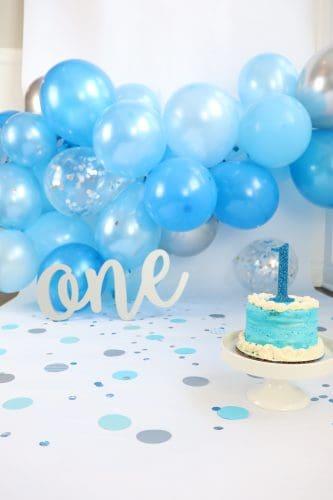 first birthday photoshoot set up