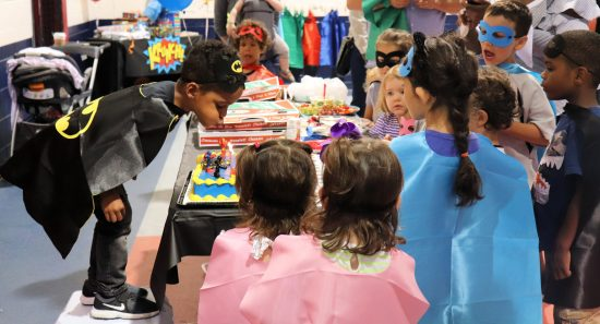 Capes all around at this superhero birthday party
