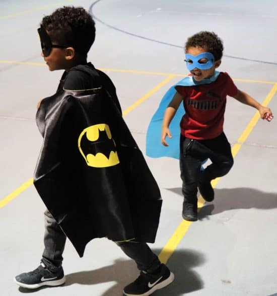 superhero birthday party capes