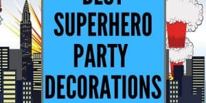 Plan your next superhero party with ease! Roundup of the best 25 superhero party decorations you can buy on Amazon- saves you hours of searching time.