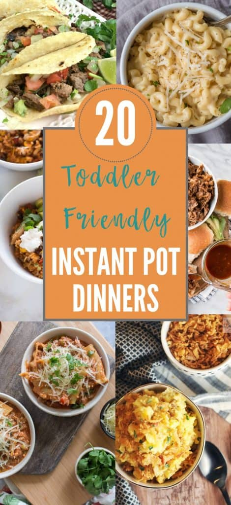 toddler friendly instant pot dinners, toddler approved dinners, toddler meals