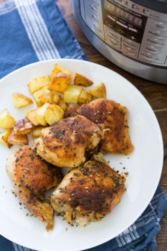Instant pot chicken thighs your whole family will love.