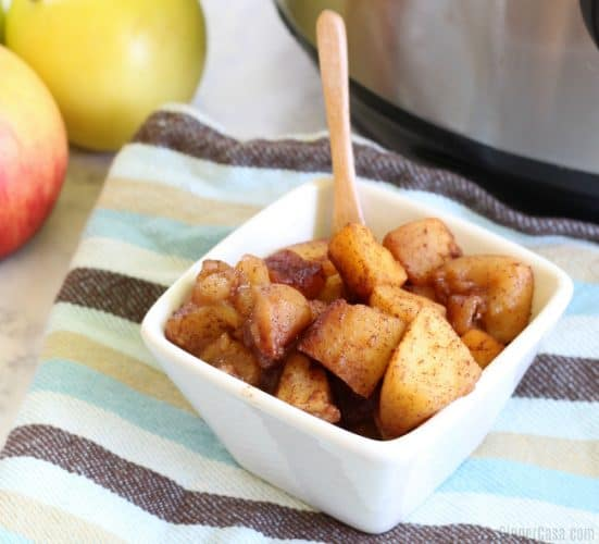 Instant Pot cinnamon apples are great for babies to adults!