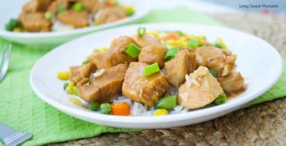Quick orange chicken recipe for the instant pot.