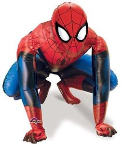 Giant inflatable spiderman for superhero birthday