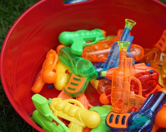 squirt guns water party